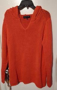 Vintage Jones New York over-sized sweater w/ hood